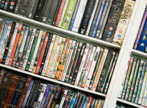 A rack o' DVDs...